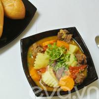 Đổi món với bò hầm khoai tây