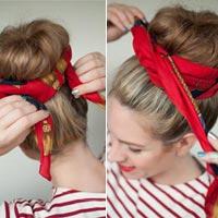 Hai cách làm mới cho tóc búi