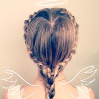 Đáng yêu với kiểu tóc thiên thần