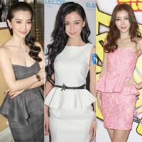 Sao Hoa ngữ 'đẹp ngất ngây' với váy peplum