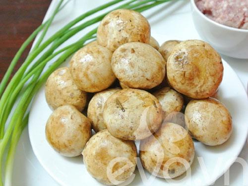 Cách làm món nấm mỡ nhồi thịt ngày đầu tuần