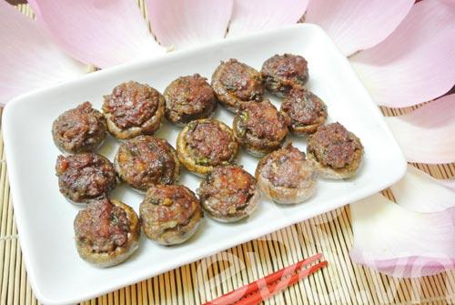 Cách làm món nấm mỡ nhồi thịt ngày đầu tuần 7