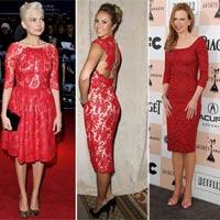 Váy ren đỏ 'mê hoặc' người đẹp