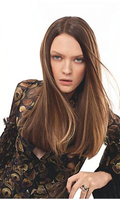 Các kiểu tóc duỗi tự nhiên đẹp nhất 2012 - 3