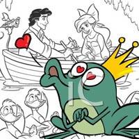 Mượn tranh tô màu kể Hoàng tử ếch