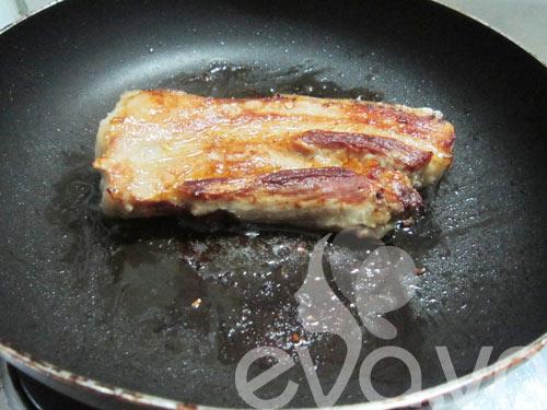 Thịt ba chỉ áp chảo trộn vừng - 4
