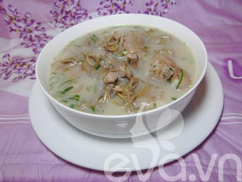 Canh chua móng giò nấu hoa chuối - 6