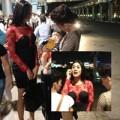 Làng sao - Bạn trai tiễn Lâm Chi Khanh tại sân bay