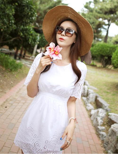 Cách để xinh đẹp với đầm trắng - 8