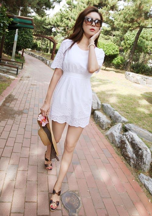 Cách để xinh đẹp với đầm trắng - 9