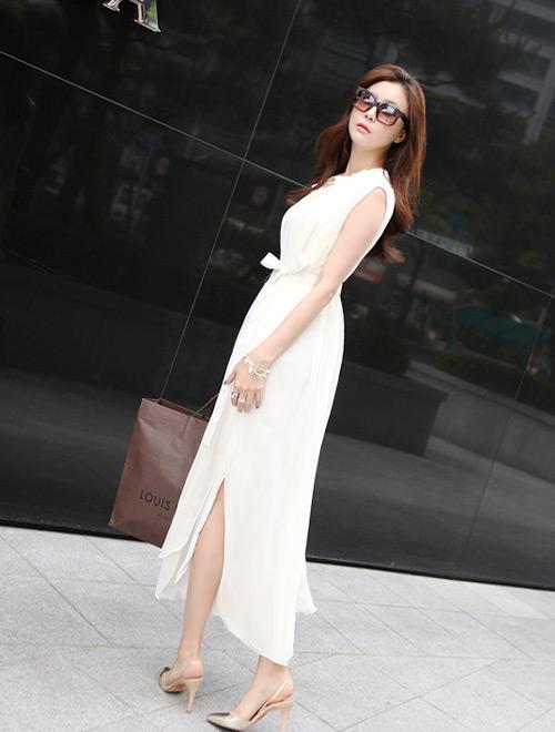 Cách để xinh đẹp với đầm trắng - 11
