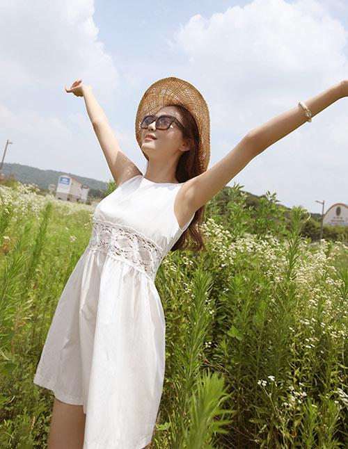 Cách để xinh đẹp với đầm trắng - 14
