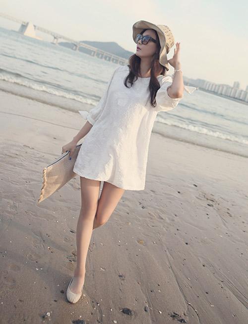 Cách để xinh đẹp với đầm trắng - 10