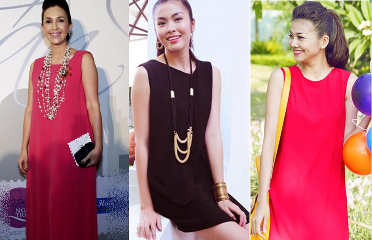 Với ưu điểm thanh lịch nhưng không kém phần năng động, váy suông cuốn hút rất nhiều mỹ nhân Việt có gu thời trang tinh tế.