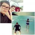 Làng sao - Phương Uyên đi bơi cùng chị em Thiều Bảo Trang