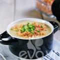 Bếp Eva - Cháo bí đỏ cá hồi cho cả nhà