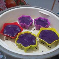 Bánh khoai lang tím nhân đậu xanh