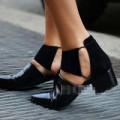 Thời trang - Giày cut out 'hâm nóng' mùa thu đông