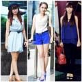 Thời trang - Váy áo màu trời 'dịu mát' phố hè