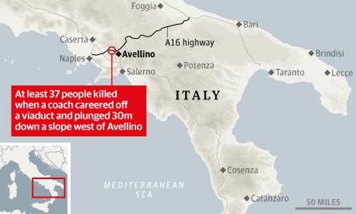 italia: tai nan xe bus tham khoc, 37 nguoi thiet mang - 3