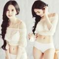 Làng sao - Ngọc Trinh mặc áo lưới khoe nội y