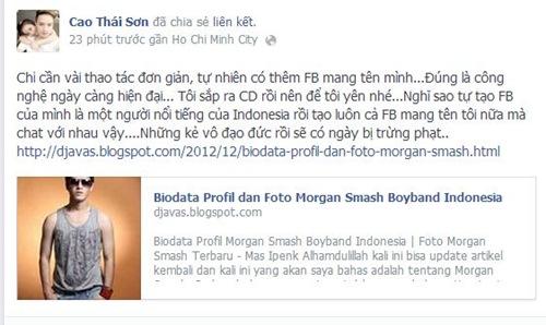 tuan qua: cao thai son co bi gia mao facebook? - 3