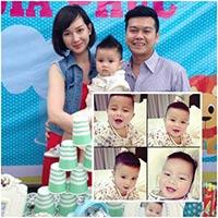 Quỳnh Chi tổ chức thôi nôi cho con trai