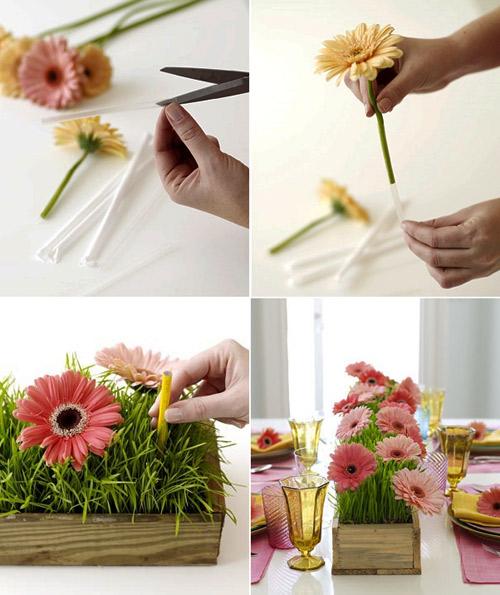 5 cách cắm hoa để bàn chị em mê tít - 1