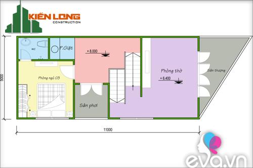 Xây nhà 3 tầng cho gia chủ tuổi Tỵ - 4