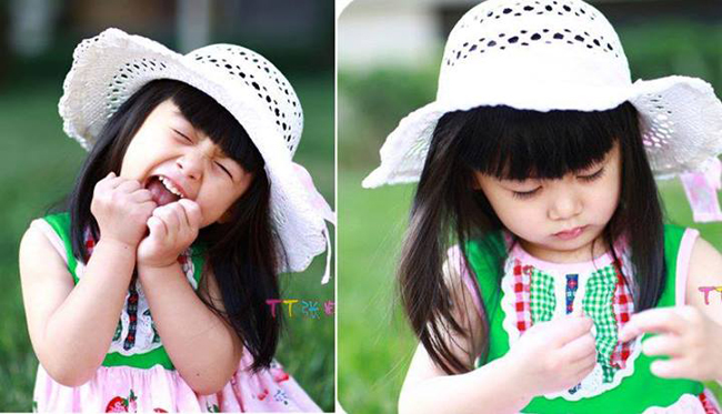 Trương Tử Mộc là một trong những sao nhí nổi tiếng nhất nhì Trung Quốc nhờ vẻ dễ thương và đôi mắt to tròn cực 'hút' của mình.