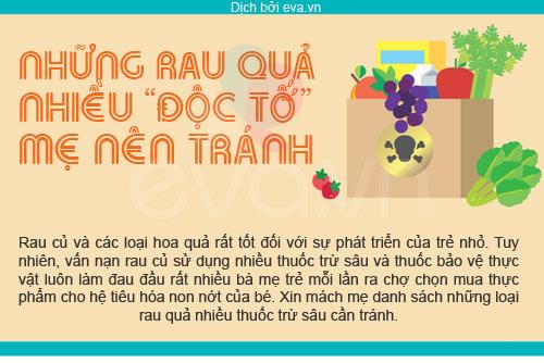 """""""diem mat"""" rau qua la """"doc to"""" cho be - 1"""