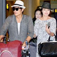 Vợ chồng Lee Byung Hun lộ diện sau tuần trăng mật