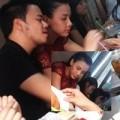 Làng sao - Trang Nhung cùng bạn trai đi ăn quán vỉa hè