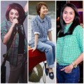 Thời trang - Sao Việt ngoan hiền với sơ mi caro