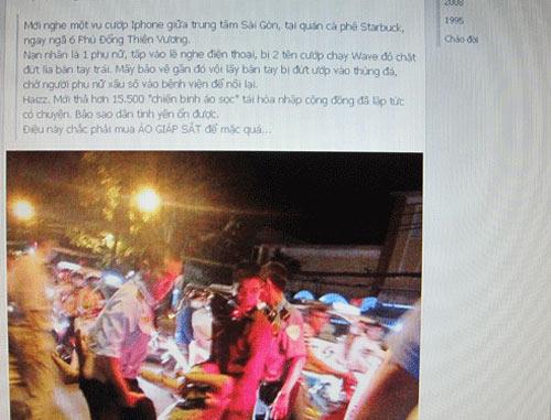 chat tay cuop dien thoai: chi la bia dat - 1