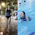 Làng sao - Bắt gặp Huyền Trang đi bơi một mình
