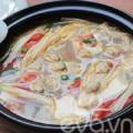 Bếp Eva - Lạ với canh ngao đậu phụ nấu nấm
