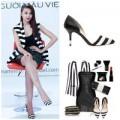Thời trang - Thanh Hằng 'cuồng' giày kẻ sọc của Zara