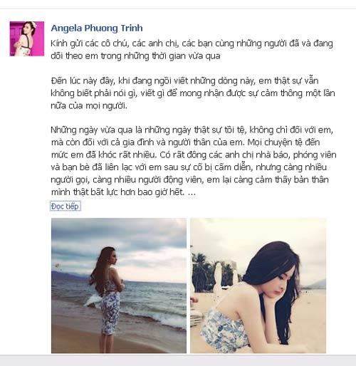 phuong trinh gui tam thu sau scandal cam dien - 1