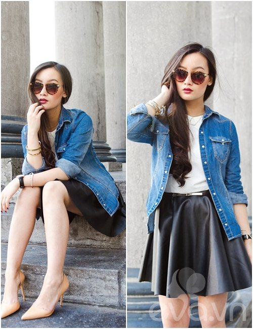 eva icon: blogger viet muon ve denim don thu - 9