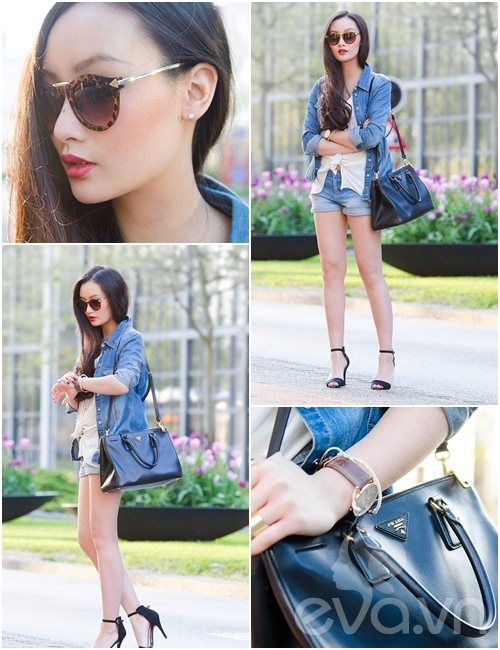 eva icon: blogger viet muon ve denim don thu - 6