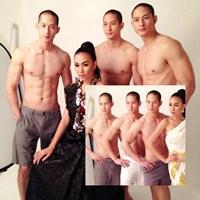 3 anh em gốc Việt khoe body siêu gợi cảm