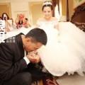 Làng sao - Cô dâu Hà Khiết cười rạng rỡ trong ngày cưới