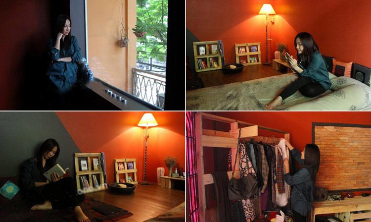 Sau hôn nhân đổ vỡ, nữ diễn viên xinh đẹp Kim Hiền thuê một căn hộ chung cư nhỏ trên đường Võ Văn Tần, quận 3, TP HCM. Cô cùng cậu con trai cưng hài lồng với không gian nhỏ ấm cúng.