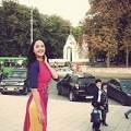 Làng sao - Á hậu Hoàng Anh khoe sắc giữa mùa thu Khakov