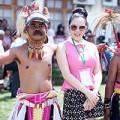 Làng sao - Lý Nhã Kỳ xinh tươi tại vũ hội Indonesia