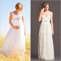 Thời trang - 10 mẫu váy cưới đẹp cho nàng bầu