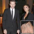 Làng sao - Beckham xăm tên vợ trên mu bàn tay