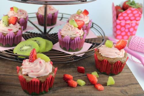 cupcake dau tay kiwi de lam - 15