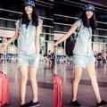 Thời trang - Huyền Trang khoe style năng động tại sân bay